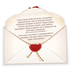Open envelope with a letter vector