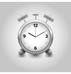 Alarm clock on white background isolated vector image