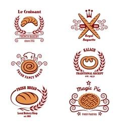 Bakery bread logos vector image