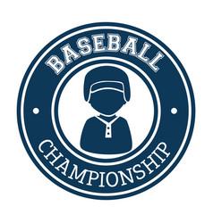 Baseball player sport icon vector