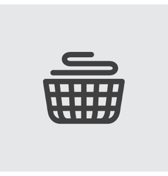 Basket laundry icon vector
