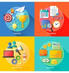 Business success steps vector