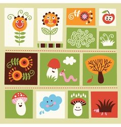 cartoon elements vector image