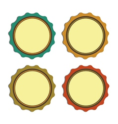 Circle label vintage promotions or qualities vector