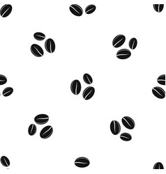 coffee beans pattern seamless black vector image vector image