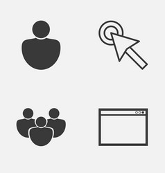 Connection icons set collection of cursor vector