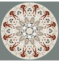 Disc with original art elements vector