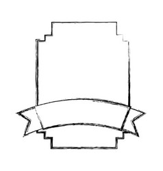Elegant badge seal with ribbon vector