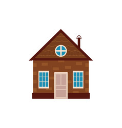 Flat private house icon isolated vector