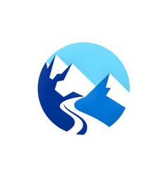 High mountain logo vector