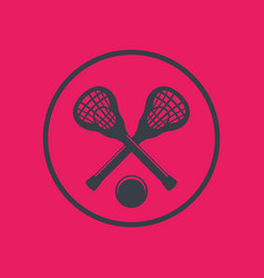 Lacrosse icon in circle vector