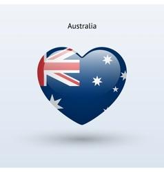 Love australia symbol heart flag icon vector