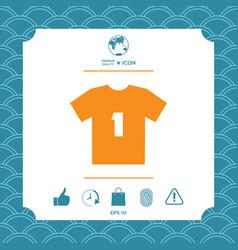 men s sport t-shirt icon the silhouette menu vector image