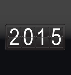 New year black counter poster vector