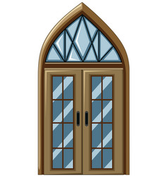 old fashioned style of glass window vector image