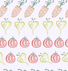 Pattern of graphical abstract carrot tomato turnip vector