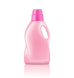 Pink liquid laundry detergent bottle vector