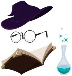Set magic tools vector image vector image