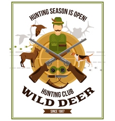 Shooting Hunting Poster vector image