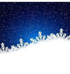 Snowflakes background with falling snow Christmas vector image
