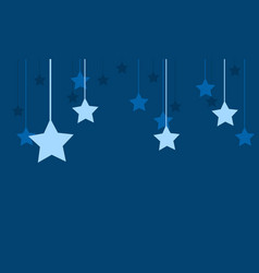 Star style with blue background vector