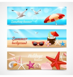 Summer holidays labels vector image vector image
