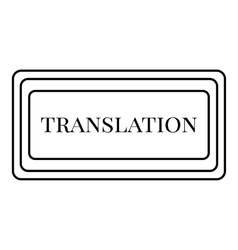 Translation button icon outline style vector