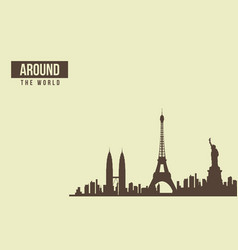 Traveling around to the world collection vector