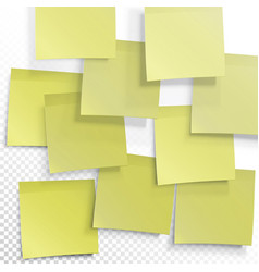 Yellow sticky notes editable template on vector