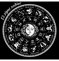 13 signs of the zodiac vector