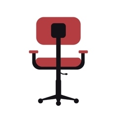 Chair office comfort workplace design vector