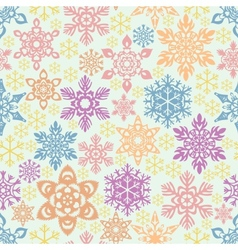 Seamless snowflakes pattern easy to change colors vector