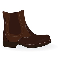 Brown boot vector