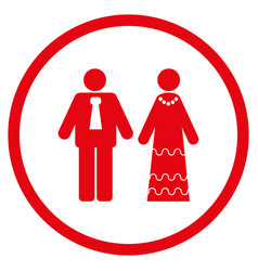 Newlyweds rounded icon vector