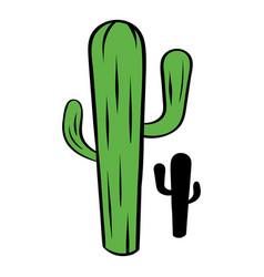 cactus icon cartoon vector image