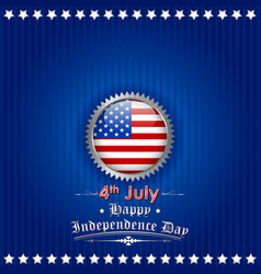 Fourth of july background for happy independence vector