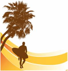 sufers beach banner vector image