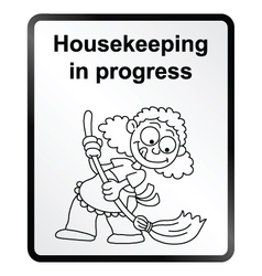 Housekeeping information sign vector