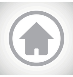 Grey home sign icon vector