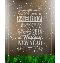 2014 merry christmas vintage typo background vector