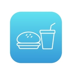 Fast food meal line icon vector