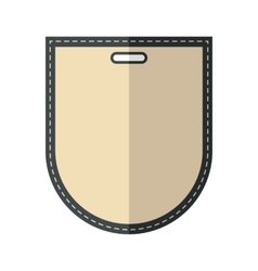Beige vintage badge vector