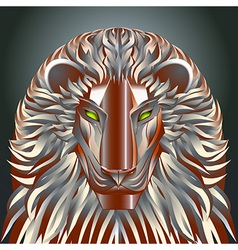 Animals lion red technology cyborg metal robot vector