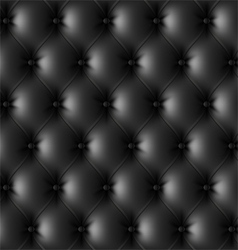 Black leather upholstery pattern vector image