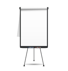 Blank flip chart vector