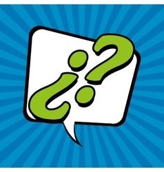Bubble pop art of question design vector