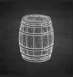 Chalk sketch of wooden barrel vector