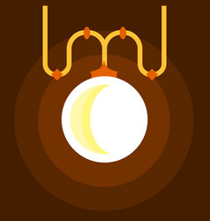 chandelier icon flat style vector image