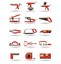 Construction and building manual tools vector image vector image