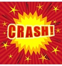 Crash comic cartoon vector